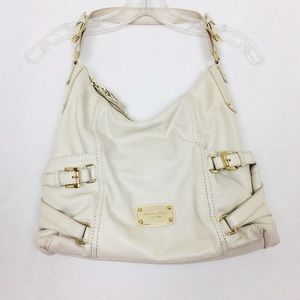 Michael Kors Leather Cream and gold Hand Bag